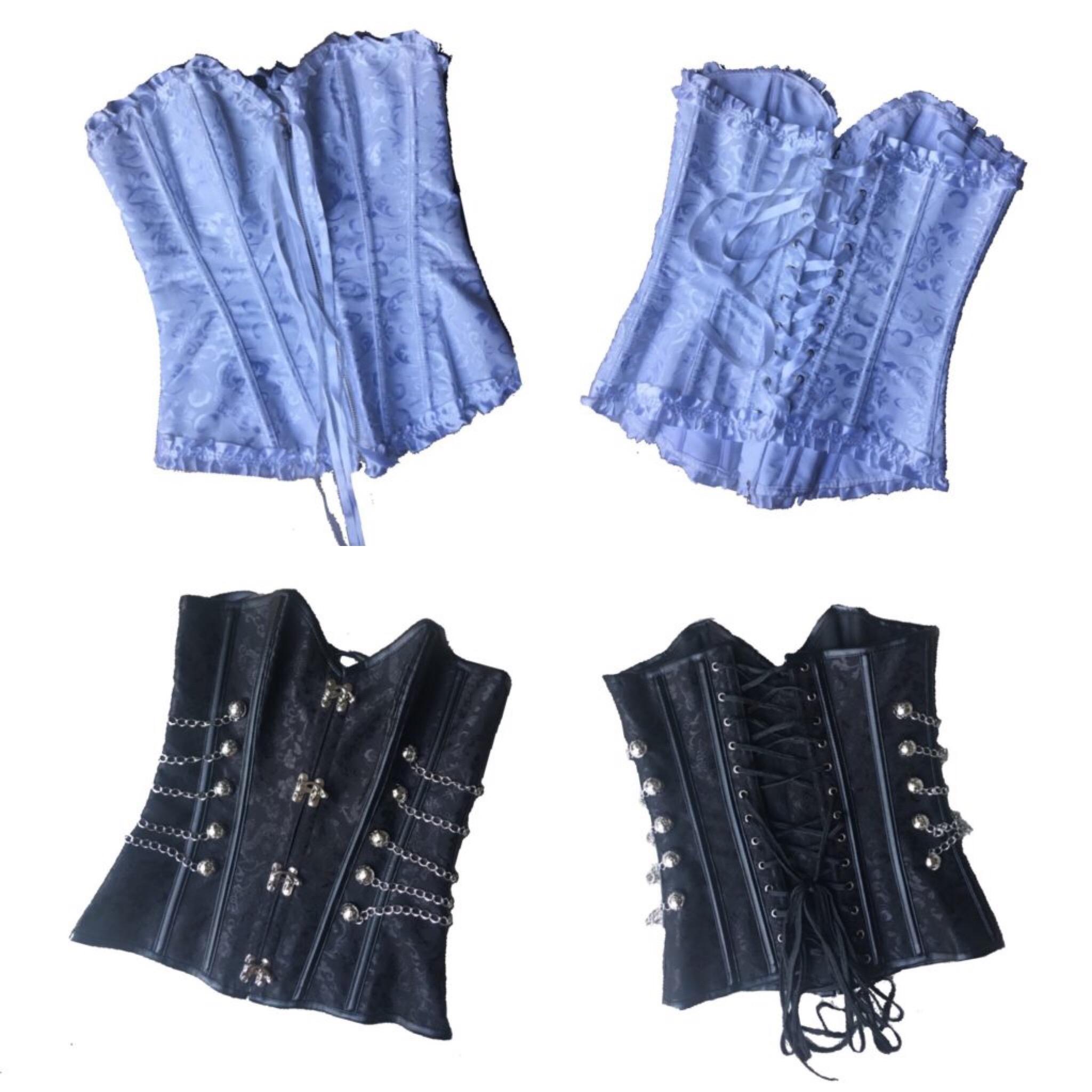 Black and white corset