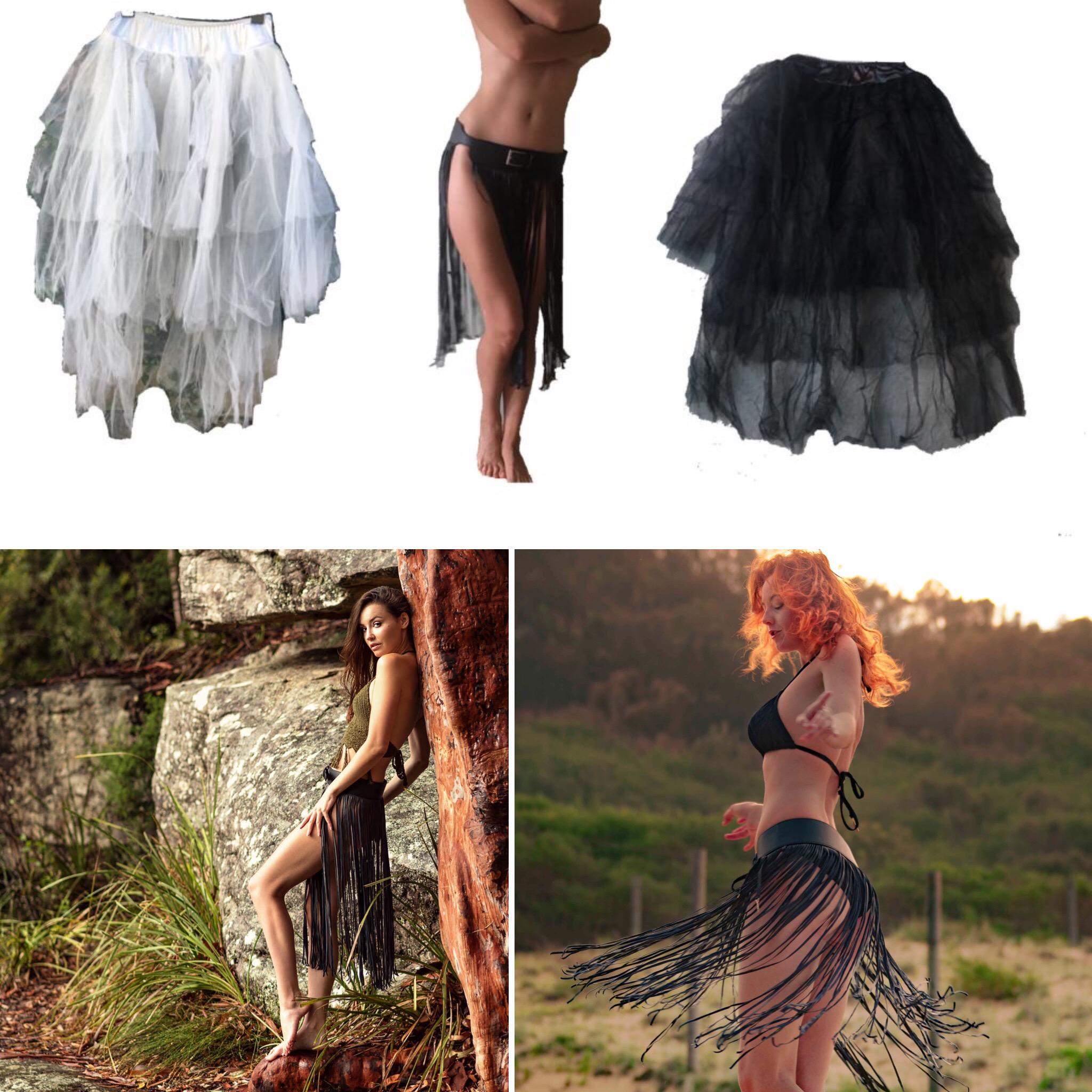"""""""Wild"""" black skirt"""